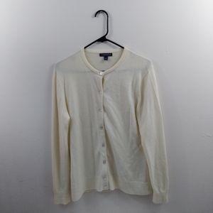 Lands end cashmere button down sweater M